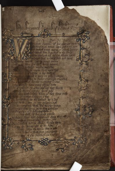 Hengwrt Chaucer f. 2 r.