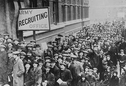 The recruiting campaign in Cardiff during the First World War