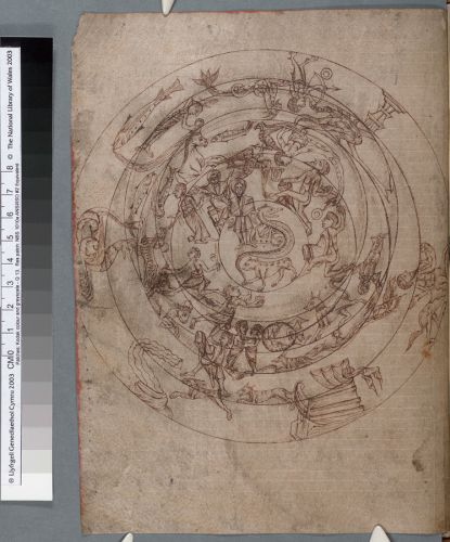 Planisphere (chart of the celestial sphere) (f. 10)