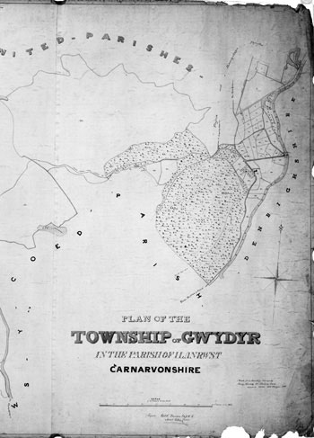 Plan of the township of Gwydyr in the Parish of Llanrwst, Carnarvonshire, by Henry Kennedy, 1840