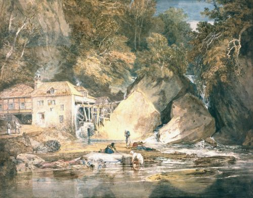 Joseph Mallord William Turner (1775-1851), Aberdulais Mill, Glamorgan, 1796-7.