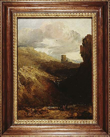 Joseph Mallord William Turner (1775-1851), Dolbadarn Castle, 1799-1800, oil on panel, 46.5 x 34 cm.