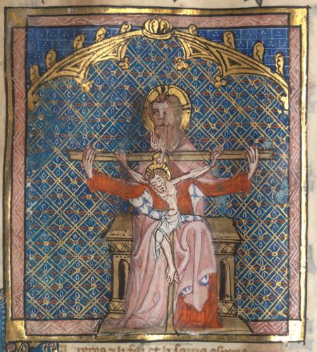 The Trinity in 'Le Testament', f. 138